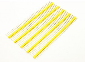 2.54mm 40Pin Male Header (5 Psc) - Yellow