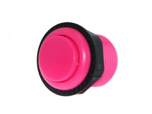 27.5mm Arcade Game Push Button - Pink