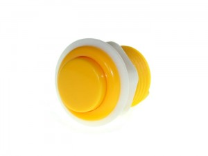 27.5mm Arcade Game Push Button - Yellow