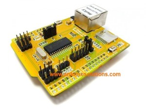 ENC28J60 Ethernet shield with POE & SD slot - IE shield v1.0