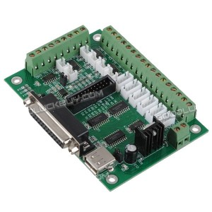 6 Axis Breakout Board Interface Adapter For PC Stepper Motor Driver Mach3