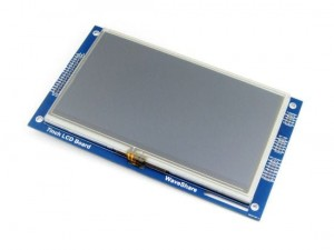 7 inch 800*480 Multicolor Graphic LCD, with resistive touch screen, RA8875