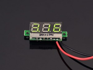 0.28 inch LED digital DC voltmeter Green