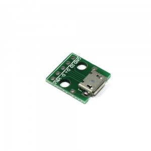 Adapter micro USB 5P na DIP goldpin
