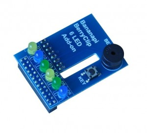 berryclip 6led add-on DIY board