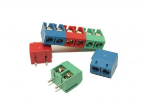 2-POSITION PCB TERMINAL BLOCK (5Pcs) Red