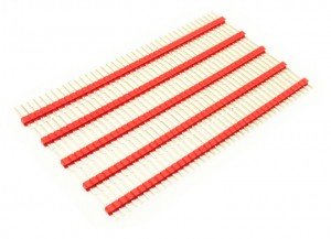 2.54mm 40Pin Male Header (5 Psc) - Red