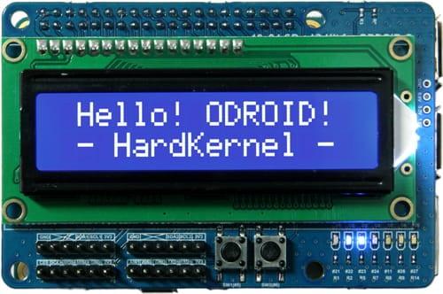 16x2 LCD + IO Shield for Odroid-C2 C1+ C0
