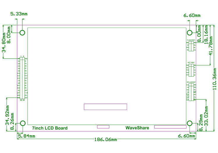 Wyświetlacz LCD 7