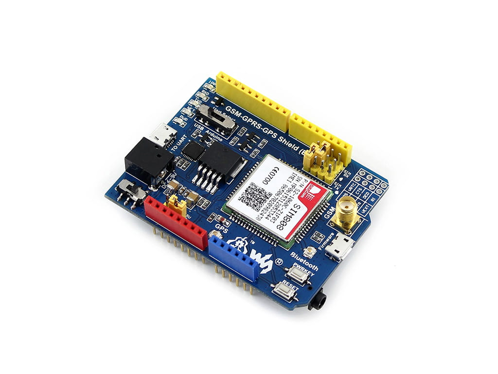 SIM808 Shield - GSM/GPRS GPS - FabtoLab
