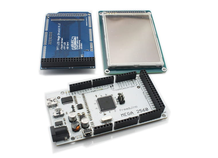 Arduino mega 2560 Stacked with Ethernet/SD card